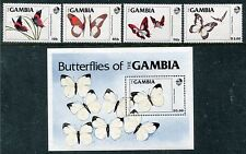 Gambia 533-537, MNH, Insects Butterflies, 1984. x26134