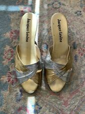 vintage gold silver mules sz 8.5/9