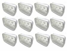 Dozen Pack Semi Transparent White Butterfly Cosmetic Bags Makeup Bags #32682-D