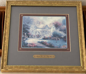 """Thomas Kinkade Simpler Times Are Better Times 1997 Framed Print 11"""" X 11"""""""