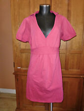 DKNY Active Hooded Dress size L Tunic Top Athletic Camping LOUNGE Wear B33