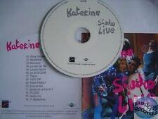 KATERINE STUDIO LIVE CD ALBUM PROMO
