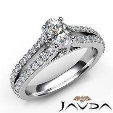 Forma Ovalada Diamante de Compromiso GIA F Color VS2 Platino Separado Pata