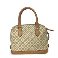 Dooney & Bourke Crossword Collection Women's Ivory Small Lara Satchel Handbag