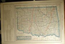 New Listing1919 Oklahoma & Texas State County Auto Road Highway Map + Car Photo