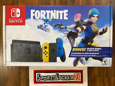 New Nintendo Switch Fortnite Edition Wildcat Bundle Blue/yellow NEW - IN HAND 🔥