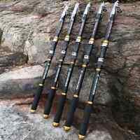 Carp Fishing Rod 2.1M -3.6M  Carbon Fiber Telescopic Fishing Rod Black Colour