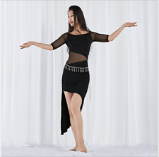 One-piece Dress Mesh Skirt Belly Dance Costumes Performance Practice Dancewear