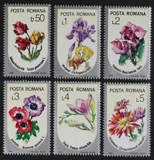 Z680 ROMANIA 1986 #3380-85 Flowers Mint NH