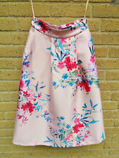 M&S Collection Pink Silk-Like 50's Style Floral Full Skirt Size 8