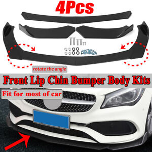 Front Bumper Spoiler Splitter For Benz C-Class W205 W204 W203 C200 C300 C63 AMG