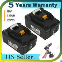 2X For Makita BL1840B 18V 4.0AH High Capacity Lithium Ion Battery BL1860 BL1840