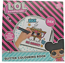 L.O.L. Surprise Glitzer Malbuch LOL 24 Seiten Quadratisches Format Kinder Spaß