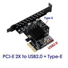 Pci-express 3.0 2x to Type-e USB 3.1 Gen2 10Gbps+USB 2.0 port expansion card