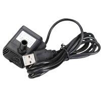 Ultra-Leise Mini Brüstenlos USB Wasser Pumpe 5V 70Cm Tauch Brunnen Aquarium