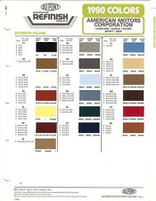 1980 AMERICAN MOTORS JEEP EAGLE SPIRIT PACER CONCORD PAINT CHIPS (DuPont)