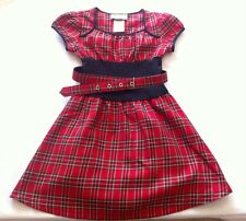 Disorderly Kids Red & Black Plaid Belted Dress Size 4