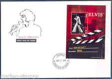 "TUVALU 2012 ELVIS PRESLEY"" ELVIS ON TOUR"" SOUVENIR SHEET I FDC"