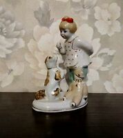 porcelain figurine. Girl with a dog. USSR. Vintage Soviet