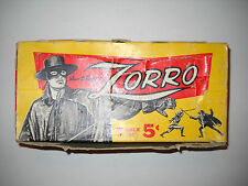 1958 ZORRO CARD DISPLAY BOX TOPPS DISNEY  *SUPER RARE*