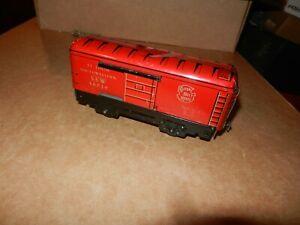 MARX #46010, SSW Box Car, Red/Silver Lettering, 6 inch, 4 Wheel,  Original