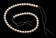"Japanese Salt Water Cultured White-Pink Rosé Pearls, 18"" Unstrung 8-8.5mm Pearls"