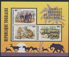 Togo #C237a MNH S/S West African Wild Animals Imperf