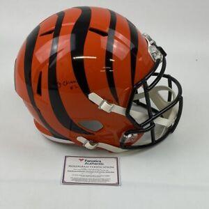 Autographed/Signed JA'MARR CHASE Cincinnati Bengals F/S Rep Helmet Fanatics COA