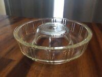 "Vintage Queen Anne Glasbake 8 3/4"" Glass Bundt Cake Jello Mold"