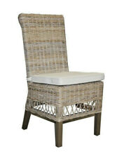 LANCASTER CANE DINING CHAIR RATTAN CHAIR W/ CUSHION ON SEAT VERY ELEGANT