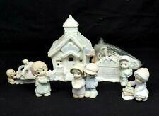 Precious Moments Sugar Town SCHOOLHOUSE Lighted Building 6 pc Collectors Set