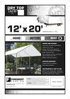 12x20 Multi-Purpose White Heavy Duty DRY TOP Poly Tarp 12'x20'