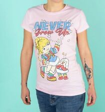 Official Rainbow Brite Never Grow Up Light Pink Fitted T-Shirt