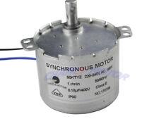 50KTYZ AC 220V 1RPM Robust Gear Box Motor Synchronous Motor CW/CCW Control 6W