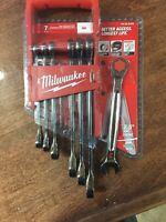 Milwaukee 48-22-9406 7pc Ratcheting Combination Wrench Set SAE New