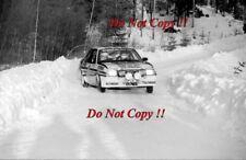 Walter Rohrl Opel Ascona 400 Swedish Rally 1982 Photograph 5