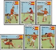 Laos 505-510 (complète edition) neuf avec gomme originale 1981 Football-WM 1982,