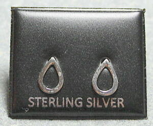 STERLING SILVER 925 STUD EARRINGS  TEARDROP  DESIGN  BUTTERFLY BACKS  ST 228