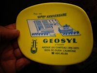 Ancien Cendrier Publicitaire PLASTOREX de l'Entreprise GEOSYL St Ouen l'Aumône