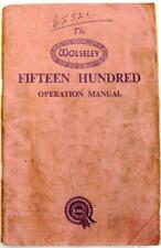 Wolseley 1500 originale auto Proprietari Manuale MAR 1957 AKD 684