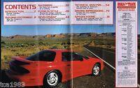 Lrg. 1993 Pontiac FIREBIRD Brochure / Catalog by R&T:Road Test,History,Trans-Am