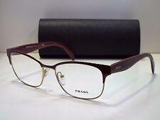 Authentic PRADA VPR65R UAN-1O1 Bordeaux Gold Eyeglasses Frame DEMO MODEL $300