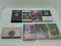 Cassette Tape LOT 8 Hard Rock Heavy Metal Triumph, Anthrax,Judas Priest,Poison