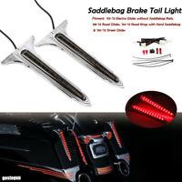 Chrome Spear Saddlebag Side LED Tail Light For Harley Touring Road Electra Glide