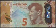 2015 New Zealand Bank Note $5 P191a Ch Unc TMM*