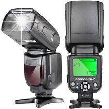 LCD Bildschirm Blitz Blitzgerät Systemblitz Für Nikon & Canon DSLR-Kameras
