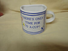 """MINT Papel Women at Work Mug Cup Coffee Tea """"Only Time for 1/2 a Cup!"""" Funny"""