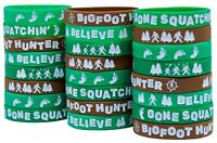 Bigfoot Party Favors - Wristbands for Sasquatch Themed Parties - Pack of 24!
