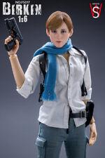 SWtoys 1/6 FS017 Resident Evil 6 Sydney Birkin Platinum Removeable Figure Model