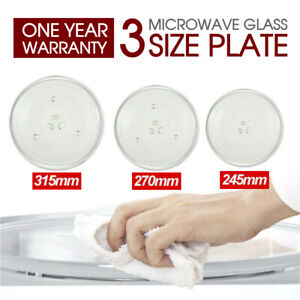Microwave Oven Platter Turntable Glass Tray Glass Plate Dia AU 24.5/27/31.5cm